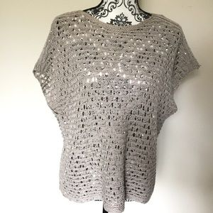 ♥️ 4 for $20 Eileen Fisher sequin  knit top blouse